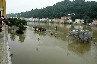 Flood scene in Passau